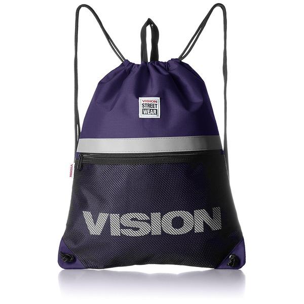 VISION(ビジョン)大型リフレクター付ナップザック パープルf00
