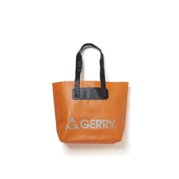 GERRY超軽量完全防水バケツ代わりにもなるトートバッグ オレンジf00