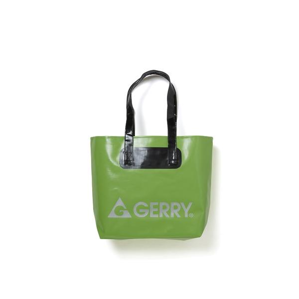 GERRY超軽量完全防水バケツ代わりにもなるトートバッグ グリーンf00
