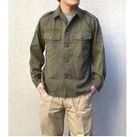 オーストリア軍 放出フィールドシャツ【中古】 オリーブ系 88-92(M相当)の画像