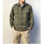オーストリア軍 放出フィールドシャツ中古 オリーブ系 104-108(XL相当)