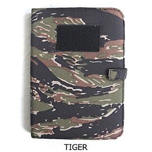 裏防水加工布仕様A5サイズノートカバー タイガー