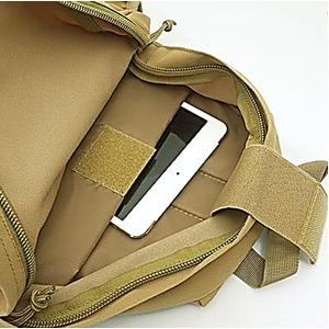 裏防水加工布仕様タブレット・ノートパソコン収納可能ラックサック コヨーテ