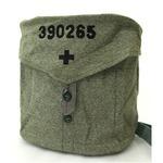 BS070UN-315007スイス軍放出 ガスマスクショルダーバッグ ソルト&ペッパー柄【中古】の画像