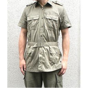 イタリア軍放出 サファリーシャツ オリーブ 《 S〜M相当》 【中古】