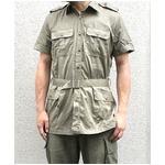 イタリア軍放出 サファリーシャツ オリーブ 《 M〜L相当》 【中古】