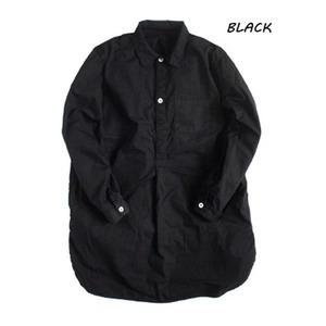 スウェーデン軍プルオーバースリーピングシャツ後染めレプリカ ブラック《40(メンズフリー相当》 - 拡大画像
