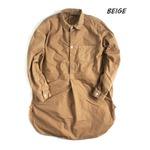 スウェーデン軍プルオーバースリーピングシャツ後染めレプリカ ベイジュ《40(メンズフリー相当)》
