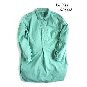 スウェーデン軍プルオーバースリーピングシャツ後染めレプリカ パステルグリーン《40(メンズフリー相当)》 - 拡大画像