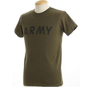 USタイプARMYオバーダイTシャツ オバーダイオリーブ XS  - 拡大画像