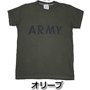 USタイプARMYオバーダイTシャツ オバーダイオリーブ XS