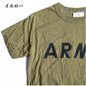 USタイプARMYオバーダイTシャツ  M  オバーダイイエロー