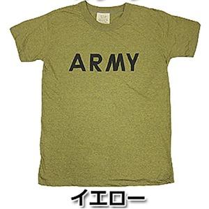 USタイプARMYオバーダイTシャツ  X L  オバーダイイエロー