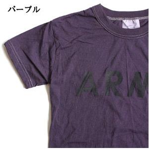 USタイプARMYオバーダイTシャツ  X L  オバーダイパープル