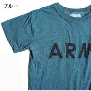 USタイプARMYオバーダイTシャツ  S  オバーダイブルー