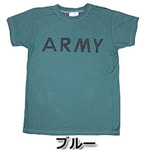 USタイプARMYオバーダイTシャツ  L  オバーダイブルー