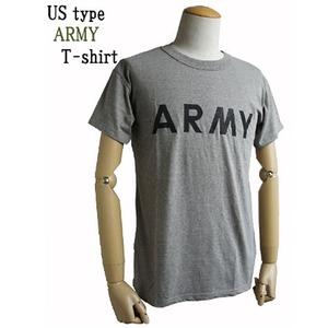 USタイプARMY杢グレーTシャツ S