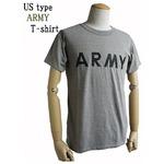 USタイプARMY杢グレーTシャツ XL