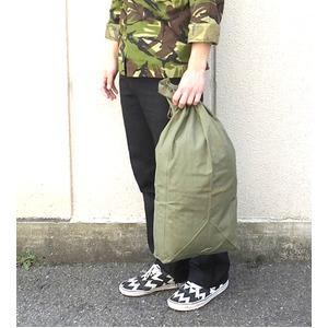フランス軍放出コットン裏防水ゴム引きランドリーバッグデットストック未使用 (日焼け有り)