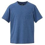5.3オンス インディゴ染めTシャツポケット付 ライトインディゴ M