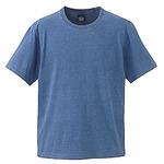5.3オンス インディゴ染めTシャツ  ライトインディゴ S