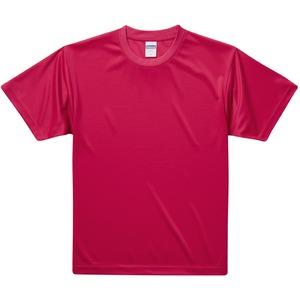 UVカット・吸汗速乾・3.8オンスさらさらドライTシャツ同色10枚セット S レッド