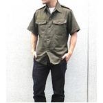 Jオーストリア軍 放出フィールド半袖ワッペン付シャツ【中古】 オリーブ系 96-100(L相当)