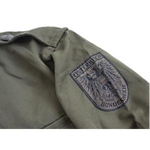 Jオーストリア軍 放出フィールド半袖ワッペン付シャツ【中古】 オリーブ系 104-108(XL相当)