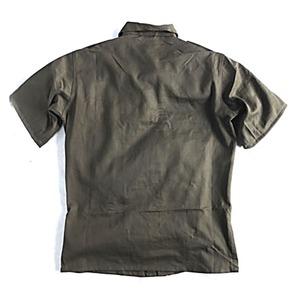 Jオーストリア軍 放出フィールド半袖ワッペン付シャツ【中古】 オリーブ系 112-116(XXL相当)