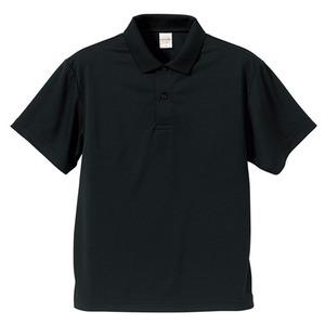UVカット・吸汗速乾・同色5枚セット・3.8オンスさらさらドライポロシャツ ブラック S