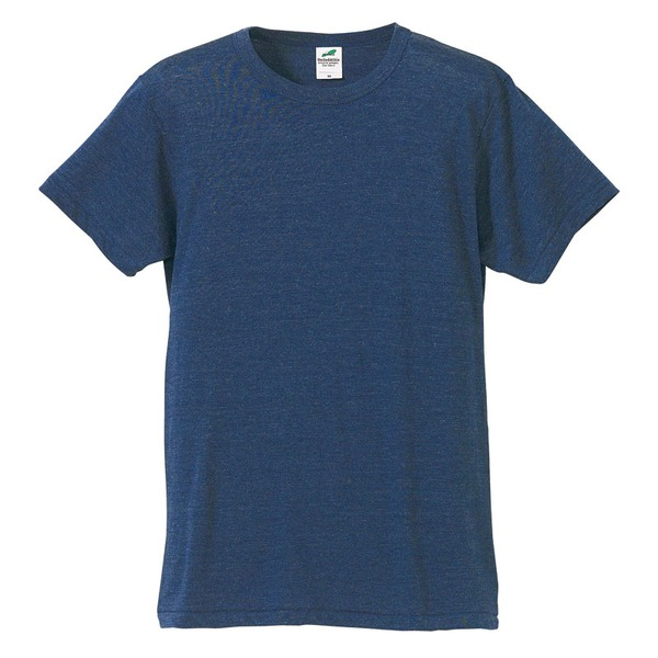 猛暑対策4.4オンスライトウェイトシャンブレー(霜降り)Tシャツ同色3枚セット ビンテージヘザーネイビー XSf00