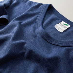 猛暑対策4.4オンスライトウェイトシャンブレー(霜降り)Tシャツ同色3枚セット ビンテージヘザーネイビー XS h02