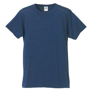 猛暑対策4.4オンスライトウェイトシャンブレー(霜降り)Tシャツ同色3枚セット ビンテージヘザーネイビー M h01