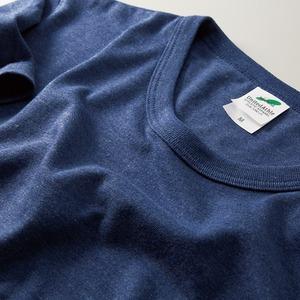 猛暑対策4.4オンスライトウェイトシャンブレー(霜降り)Tシャツ同色3枚セット ビンテージヘザーネイビー XL h02