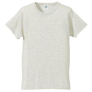 猛暑対策4.4オンスライトウェイトシャンブレー(霜降り)Tシャツ同色3枚セット オートミール XS h01