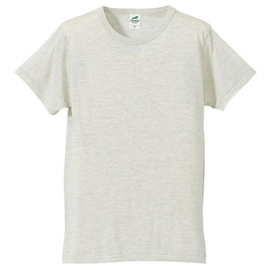 猛暑対策4.4オンスライトウェイトシャンブレー(霜降り)Tシャツ同色3枚セット オートミール S