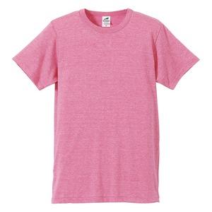 猛暑対策4.4オンスライトウェイトシャンブレー(霜降り)Tシャツ同色3枚セット ビンテージヘザーピンク XL h01