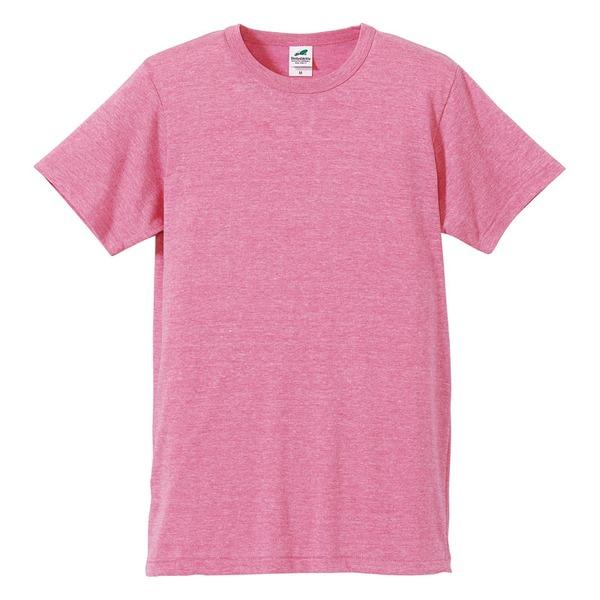 猛暑対策4.4オンスライトウェイトシャンブレー(霜降り)Tシャツ同色3枚セット ビンテージヘザーピンク XLf00
