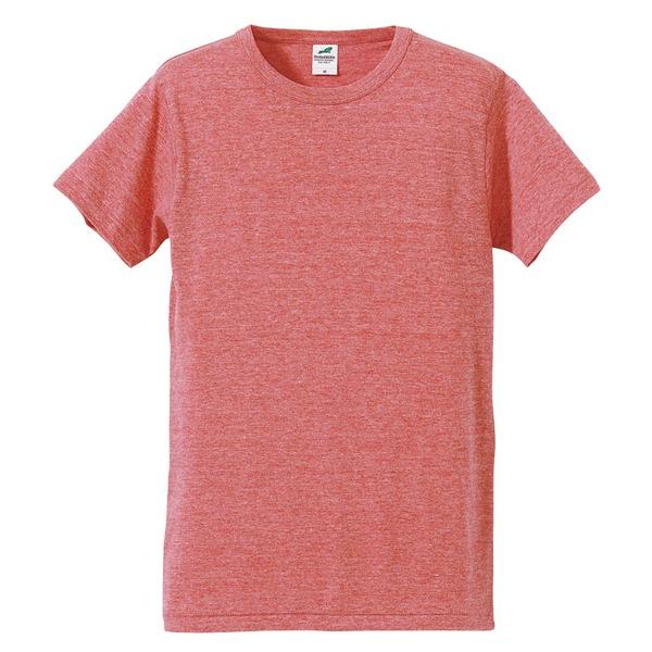 猛暑対策4.4オンスライトウェイトシャンブレー(霜降り)Tシャツ同色3枚セット ビンテージヘザーレッド XSf00