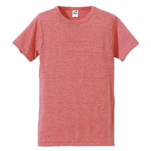 猛暑対策4.4オンスライトウェイトシャンブレー(霜降り)Tシャツ同色3枚セット ビンテージヘザーレッド M h01