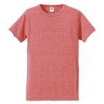 猛暑対策4.4オンスライトウェイトシャンブレー(霜降り)Tシャツ同色3枚セット ビンテージヘザーレッド L