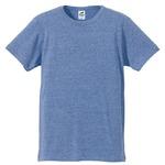 猛暑対策4.4オンスライトウェイトシャンブレー(霜降り)Tシャツ同色3枚セット ビンテージブルー XL