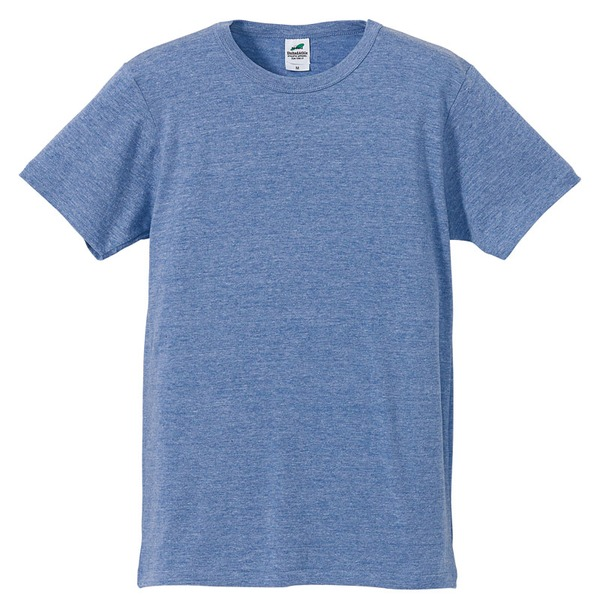 猛暑対策4.4オンスライトウェイトシャンブレー(霜降り)Tシャツ同色3枚セット ビンテージブルー XLf00