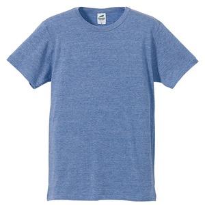 猛暑対策4.4オンスライトウェイトシャンブレー(霜降り)Tシャツ同色3枚セット ビンテージブルー M h01