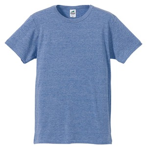 猛暑対策4.4オンスライトウェイトシャンブレー(霜降り)Tシャツ同色3枚セット ビンテージブルー XS