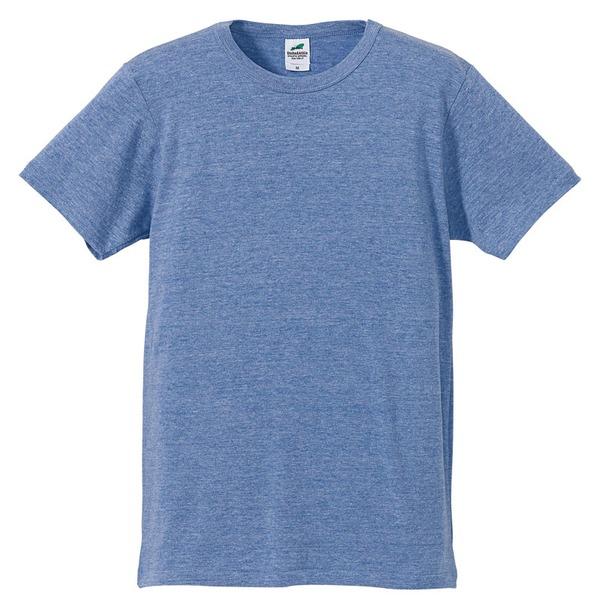 猛暑対策4.4オンスライトウェイトシャンブレー(霜降り)Tシャツ同色3枚セット ビンテージブルー XSf00