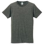 猛暑対策4.4オンスライトウェイトシャンブレー(霜降り)Tシャツ同色3枚セット ヘザーチャコール XS