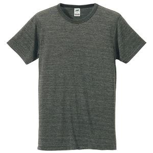 猛暑対策4.4オンスライトウェイトシャンブレー(霜降り)Tシャツ同色3枚セット ヘザーチャコール L