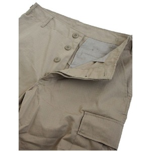 アメリカ軍 BDU カーゴショートパンツ /パンツ 【 Lサイズ 】 リップストップ カーキ 【 レプリカ 】