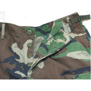 アメリカ軍 BDU カーゴショートパンツ /迷彩服パンツ 【 Lサイズ 】 リップストップ ウッドランド 【 レプリカ 】
